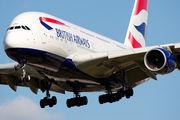 G-XLEF - British Airways Airbus A380 aircraft
