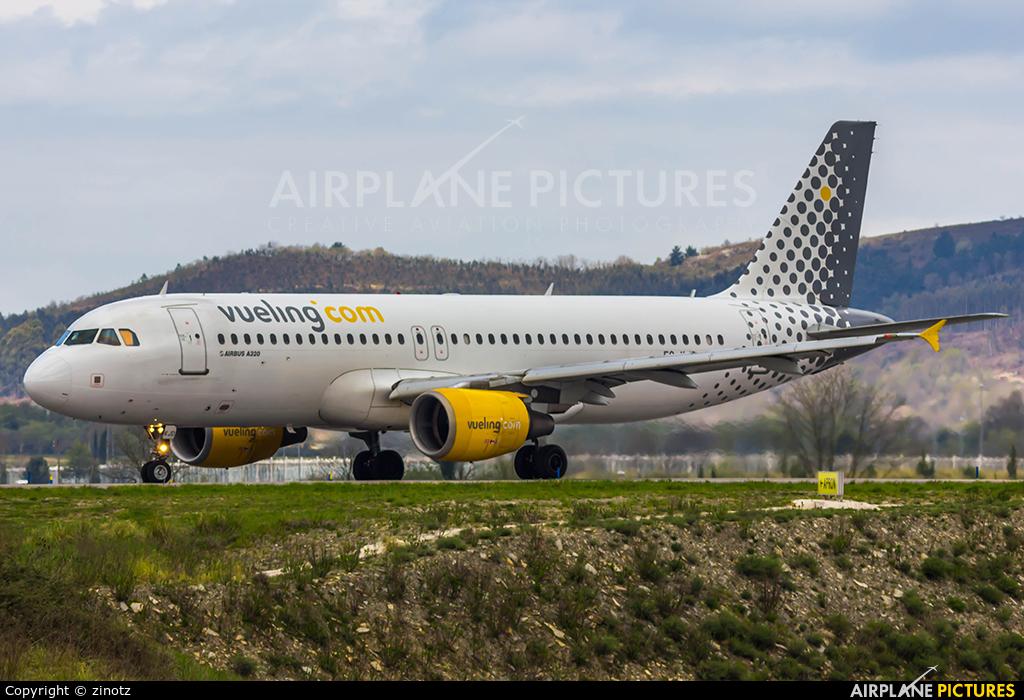 Vueling Airlines EC-KJD aircraft at Bilbao