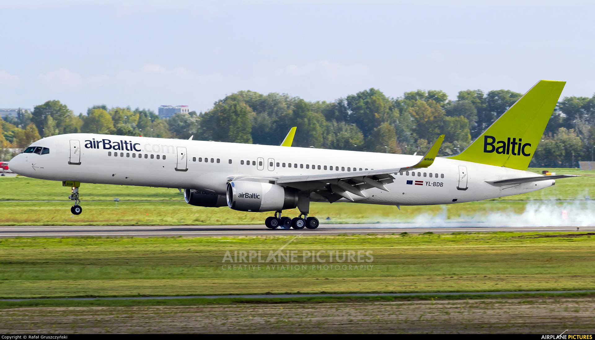 Air Baltic YL-BDB aircraft at Warsaw - Frederic Chopin
