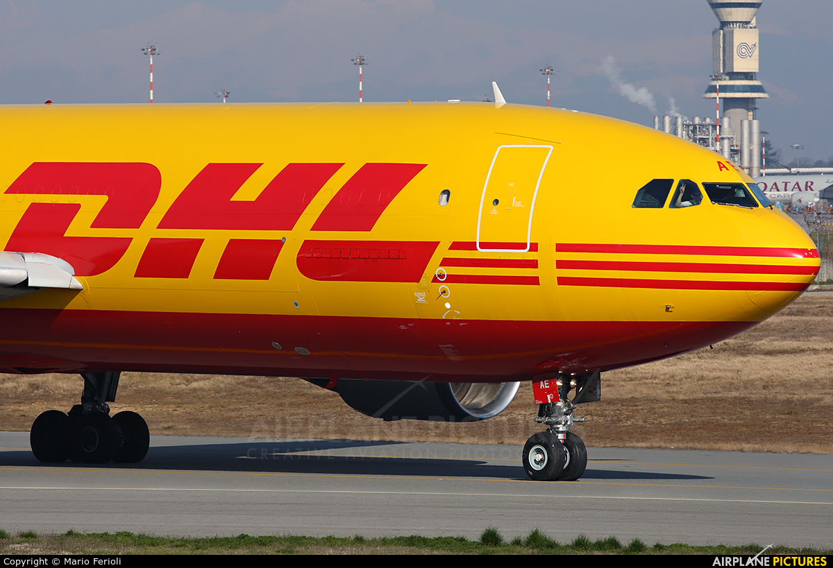 DHL Cargo D-AEAE aircraft at Milan - Malpensa