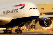 G-XLEA - British Airways Airbus A380 aircraft
