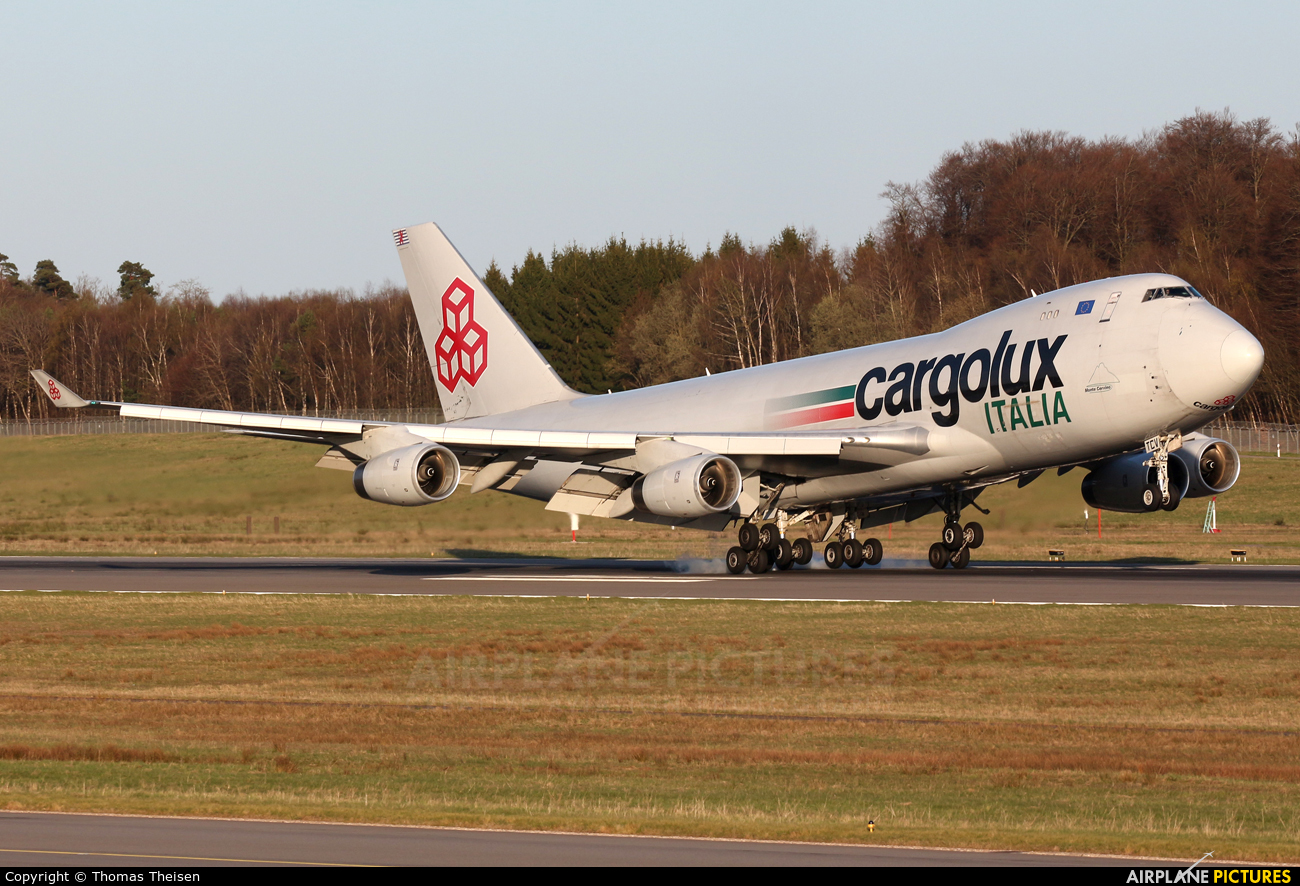 Cargolux Italia LX-TCV aircraft at Luxembourg - Findel