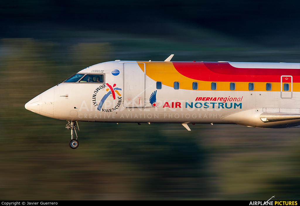 Air Nostrum - Iberia Regional EC-INF aircraft at Madrid - Barajas