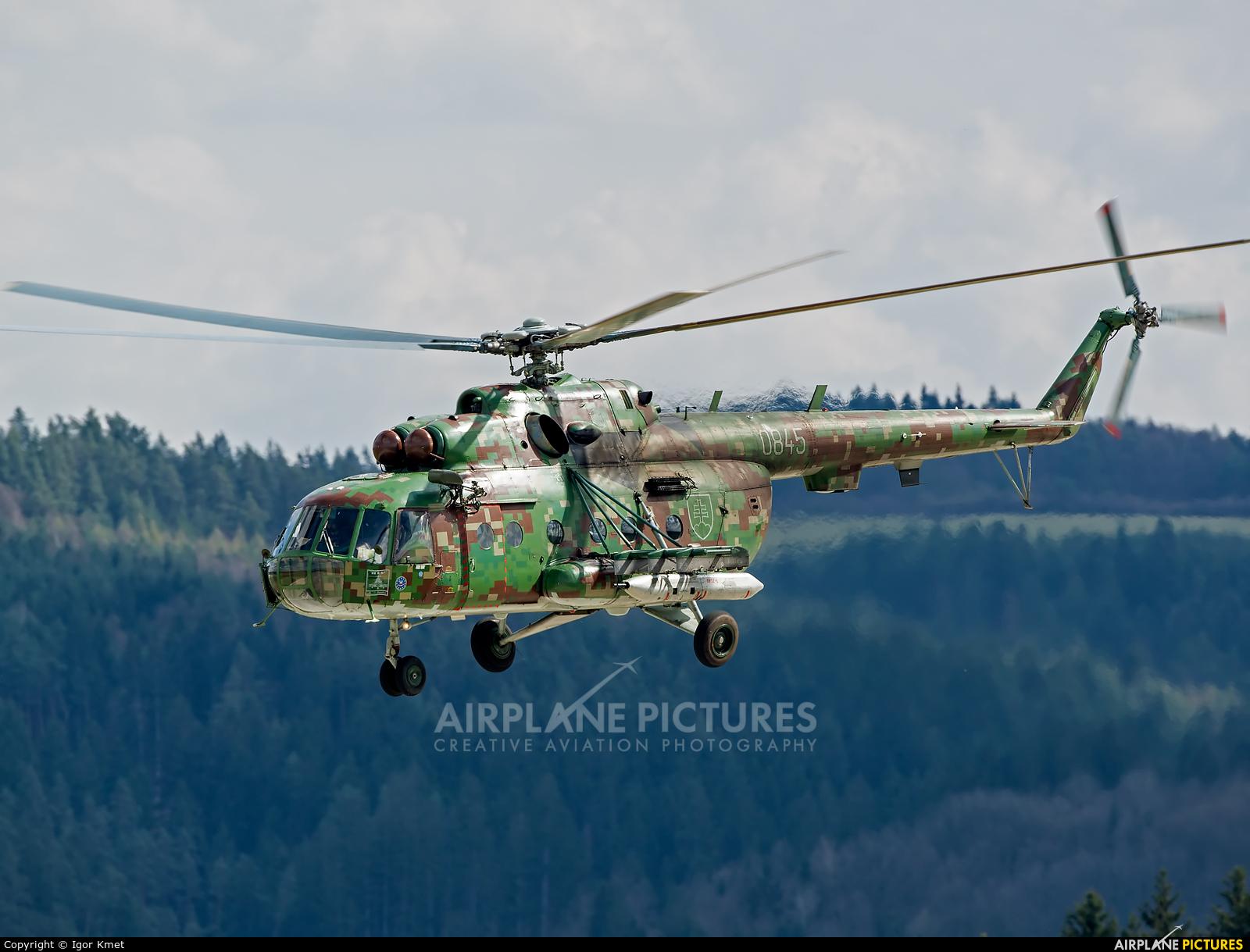 Slovakia -  Air Force 0845 aircraft at Sliač