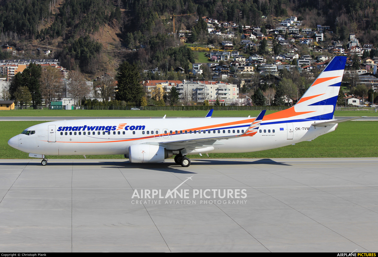 SmartWings OK-TVW aircraft at Innsbruck