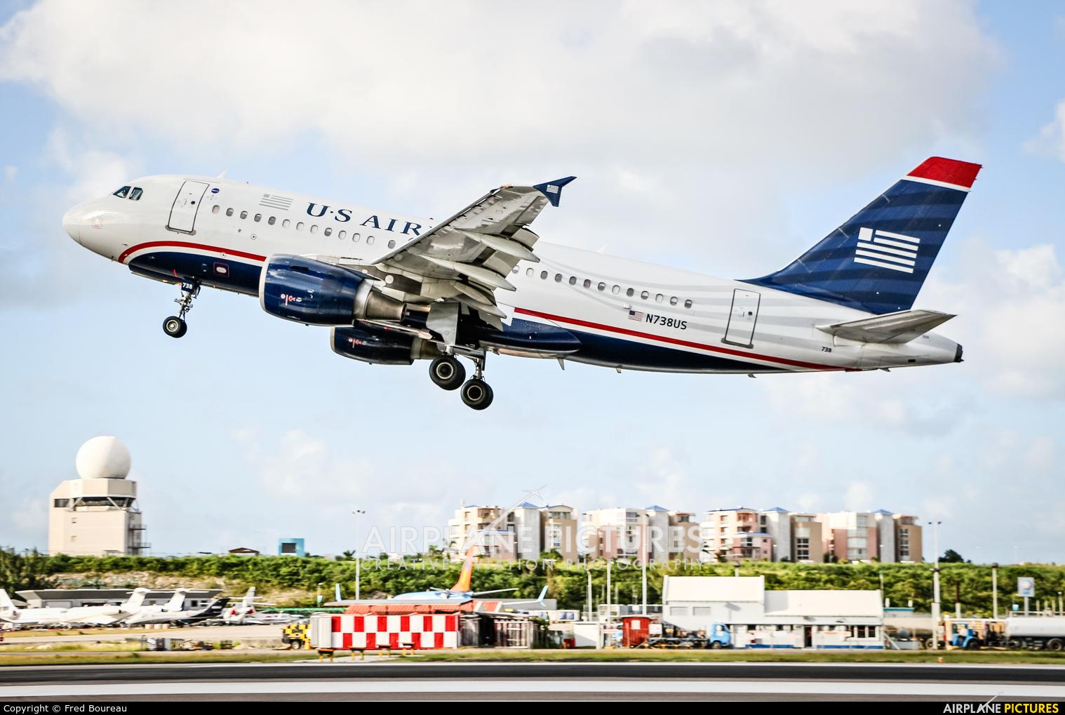 US Airways N738US aircraft at Sint Maarten - Princess Juliana Intl