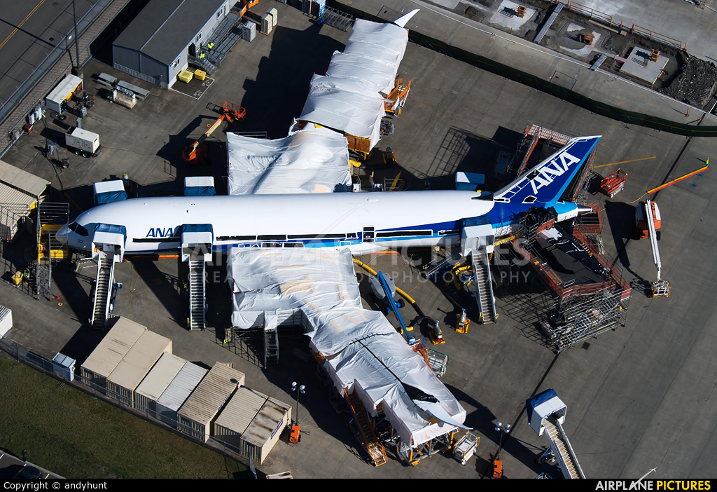 ANA - All Nippon Airways - aircraft at Everett - Snohomish County / Paine Field