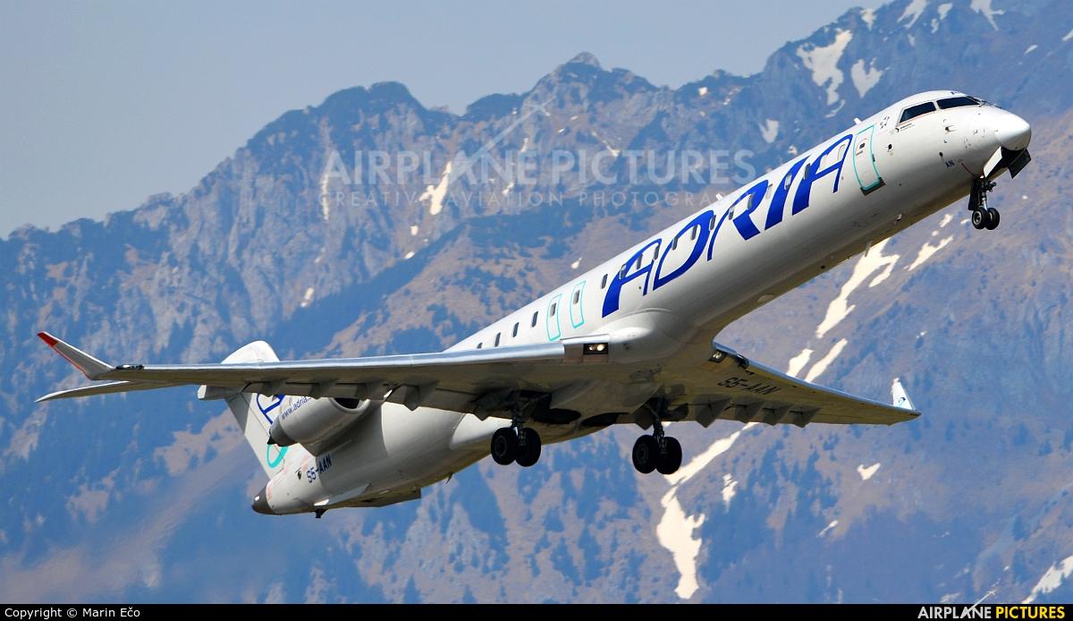 Adria Airways S5-AAN aircraft at Ljubljana - Brnik