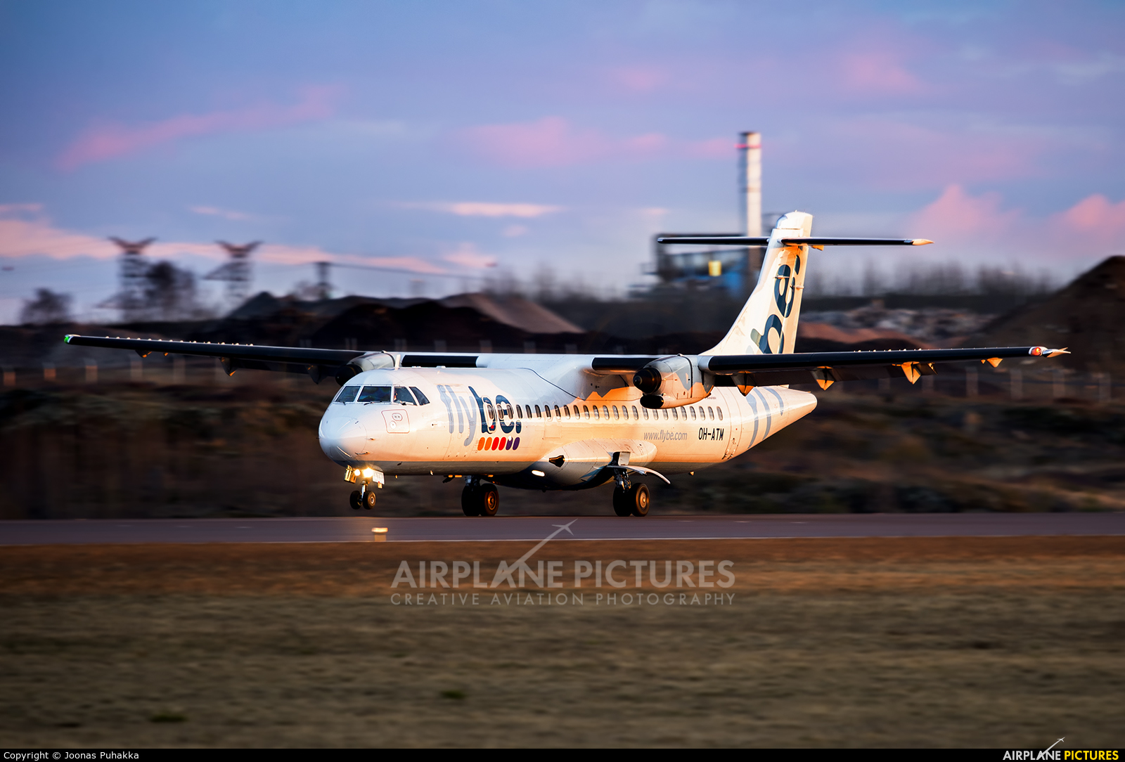 Flybe OH-ATM aircraft at Helsinki - Vantaa