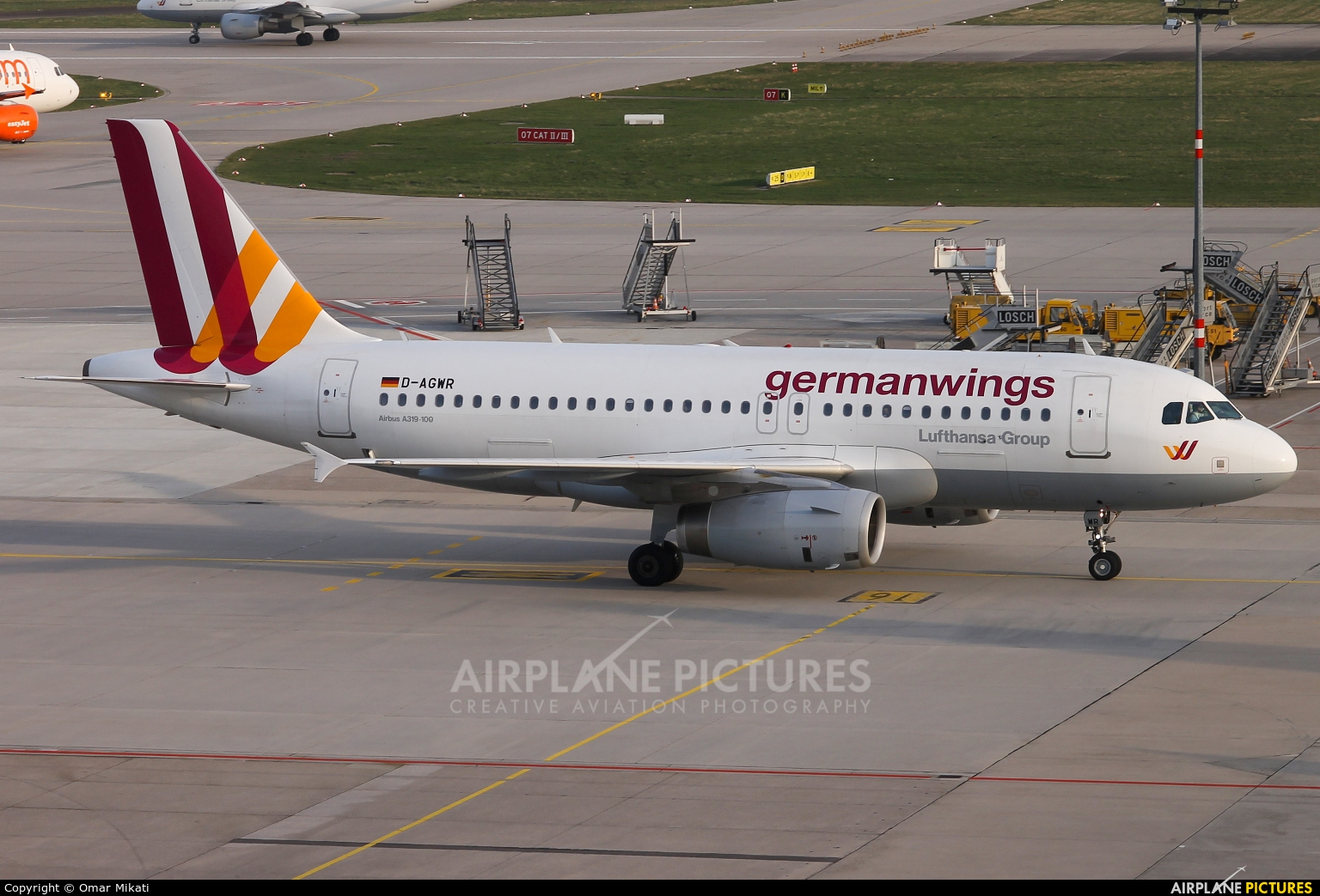 Germanwings D-AGWR aircraft at Stuttgart