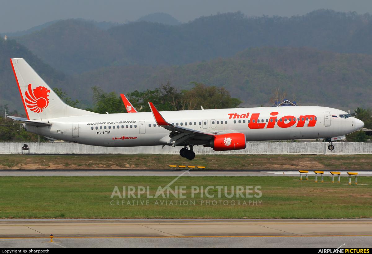 Thai Lion Air HS-LTM aircraft at Chiang-Mai