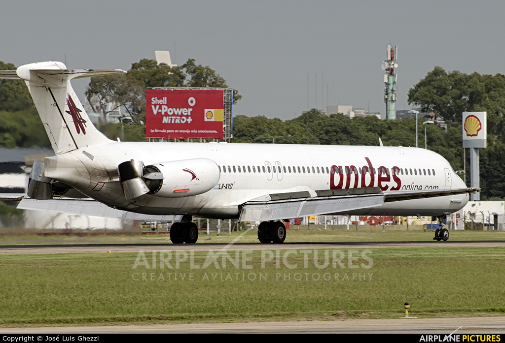 Andes Lineas Aereas  LV-AYD aircraft at Buenos Aires - Jorge Newbery