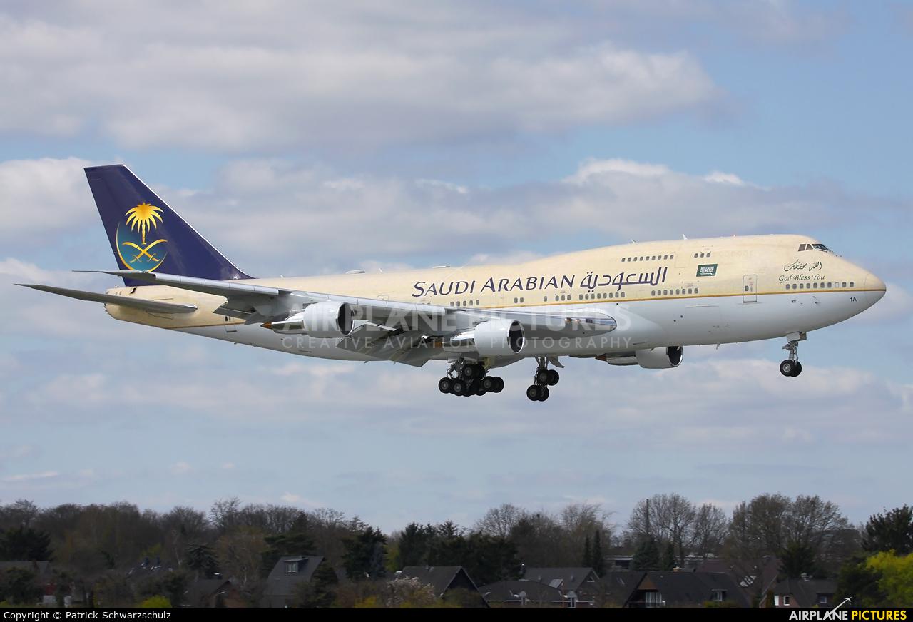 Saudi Arabia - Royal Flight HZ-HM1A aircraft at Hamburg - Fuhlsbüttel