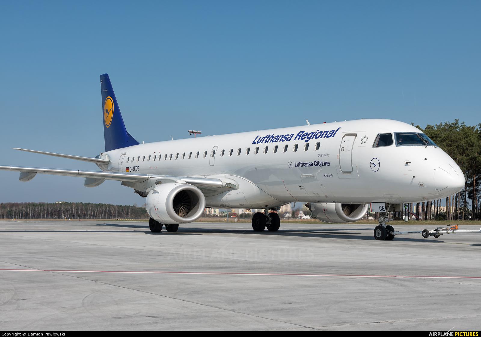Lufthansa Regional - CityLine D-AECE aircraft at Bydgoszcz - Szwederowo
