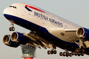 G-XLEA - British Airways Airbus A380 aircraft