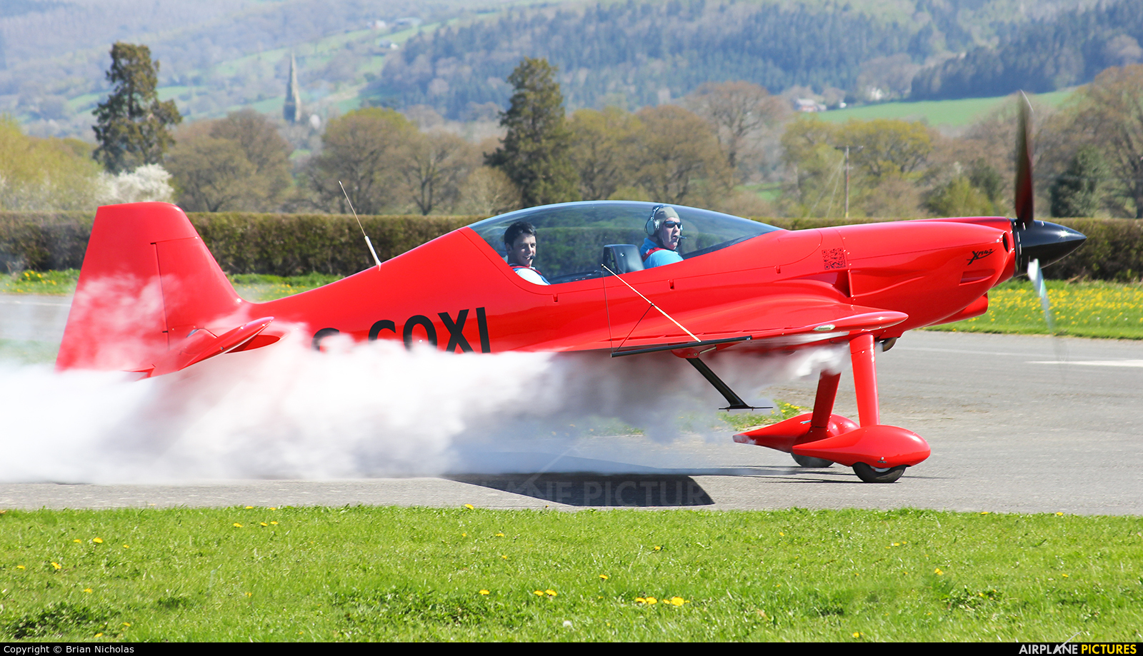Private G-COXI aircraft at Welshpool