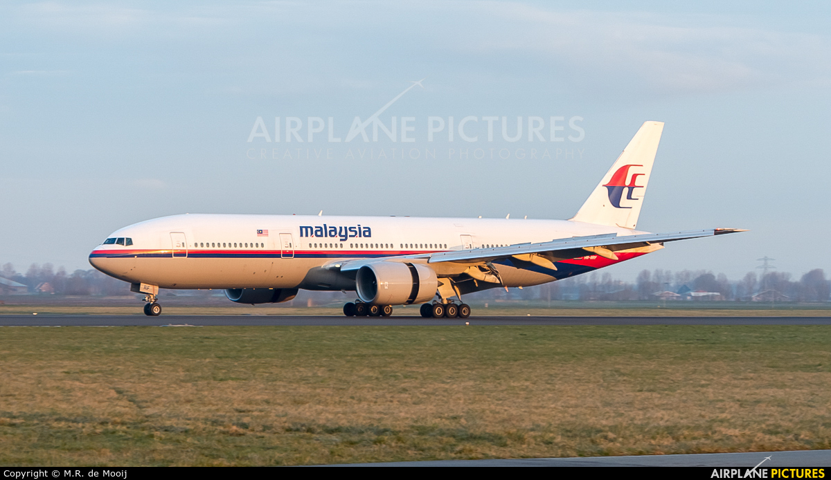 Malaysia Airlines 9M-MRF aircraft at Amsterdam - Schiphol
