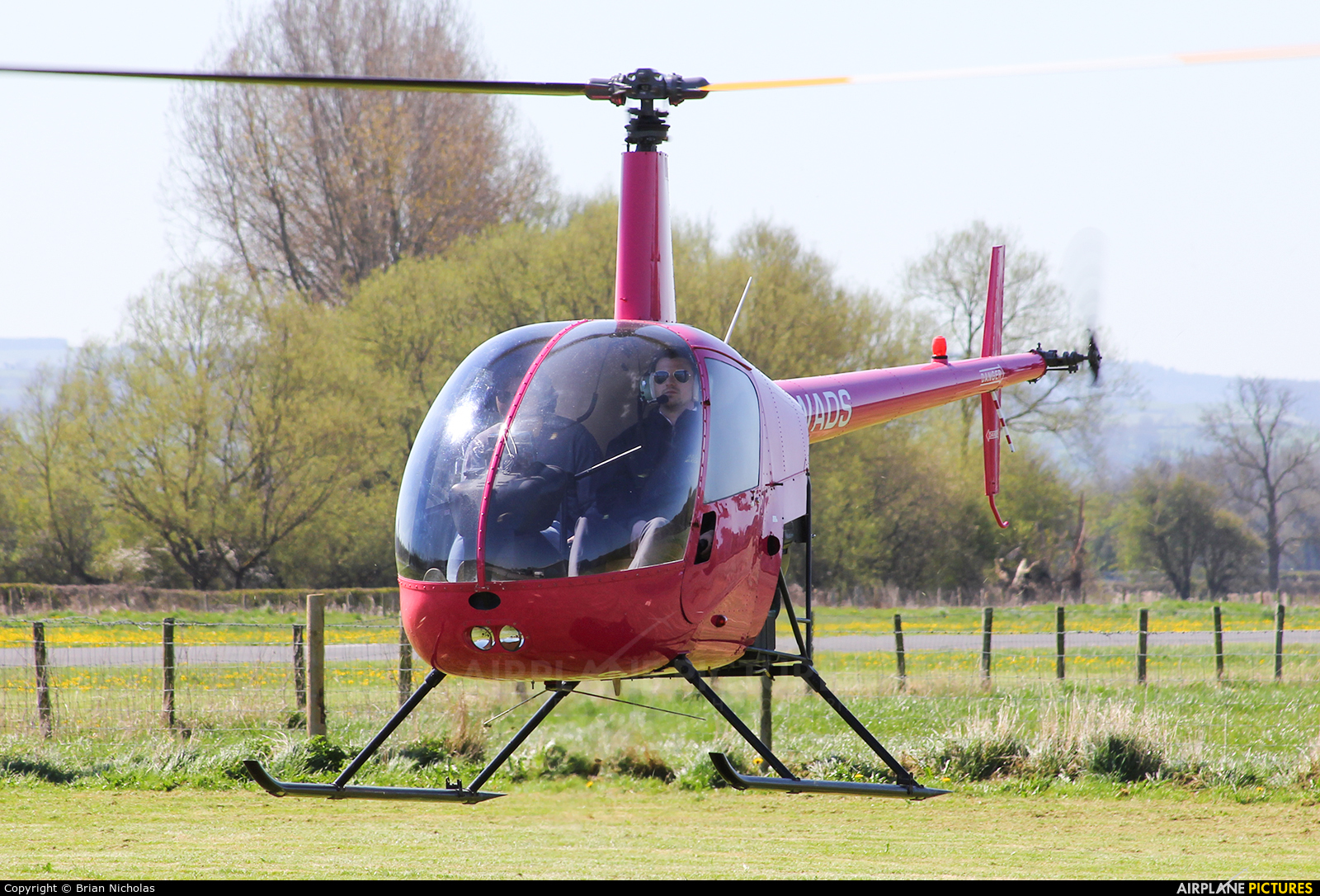 Whizzard Helicopters G-WADS aircraft at Welshpool
