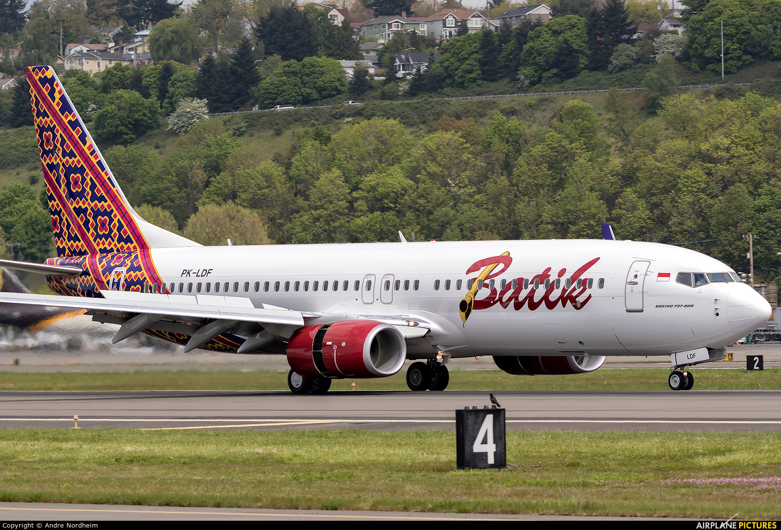 Batik Air PK-LDF aircraft at Seattle - Boeing Field / King County Intl