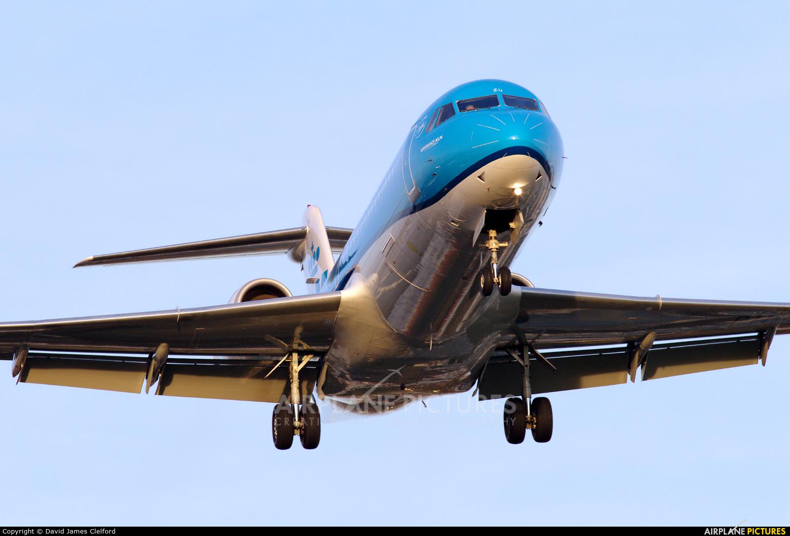 KLM Cityhopper PH-KZU aircraft at London - Heathrow