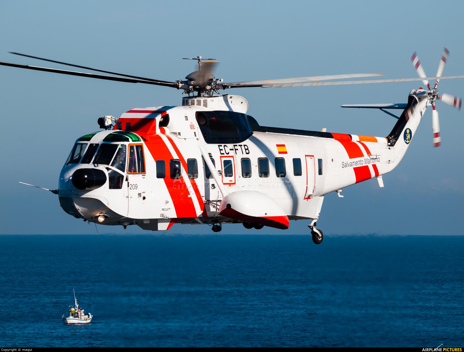 Spain - Coast Guard EC-FTB aircraft at La Coruña - El Portiño
