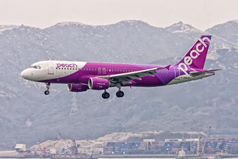 JA807P - Peach Aviation Airbus A320