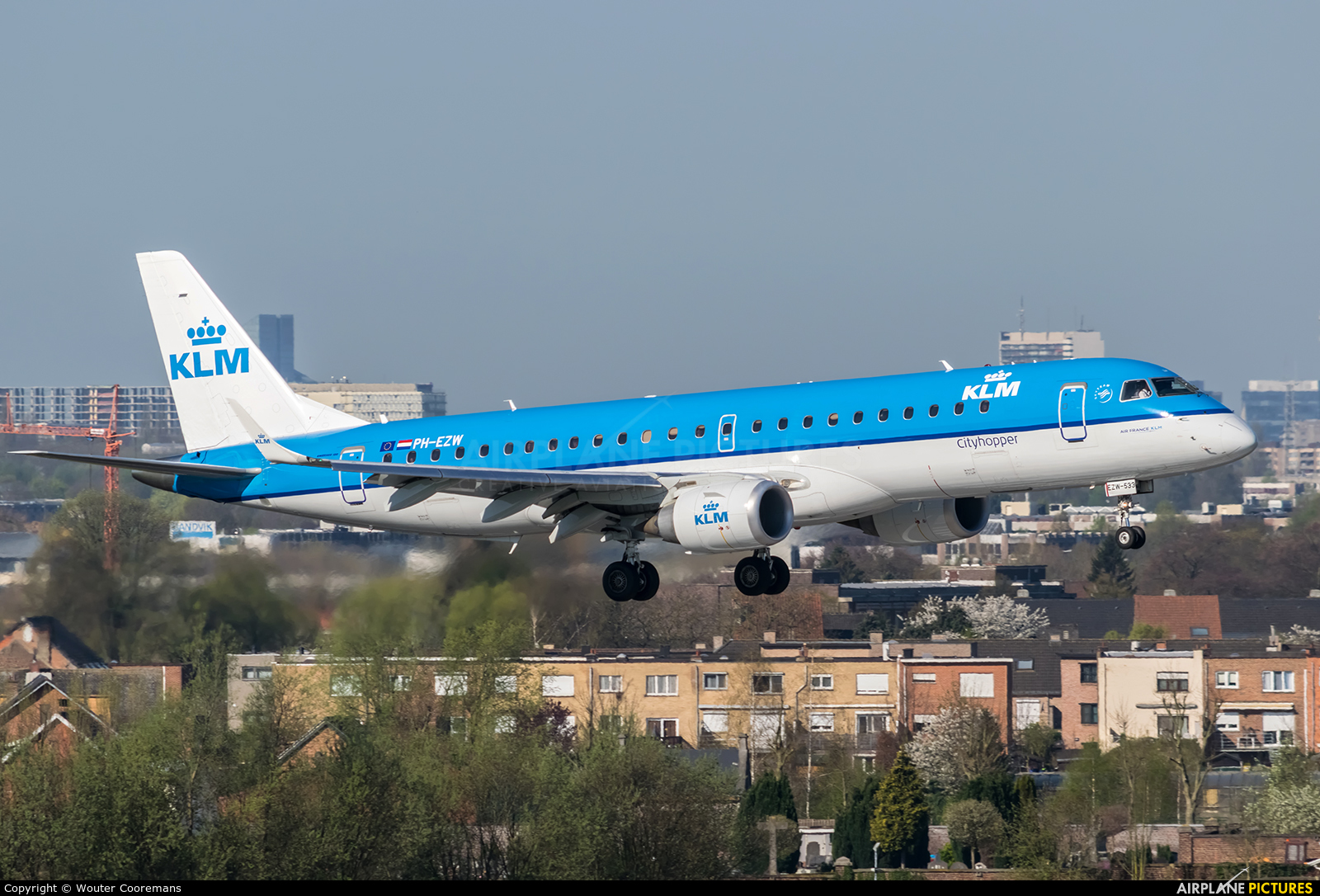 KLM Cityhopper PH-EZW aircraft at Brussels - Zaventem