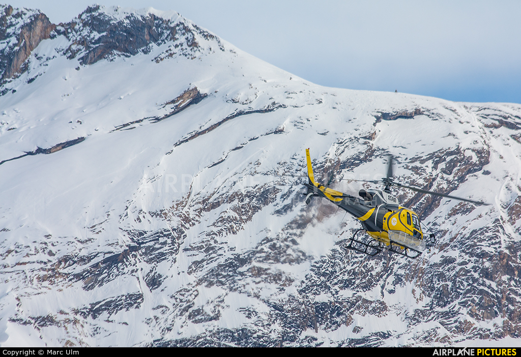 Mont Blanc Helicopteres F-HADE aircraft at Courchevel