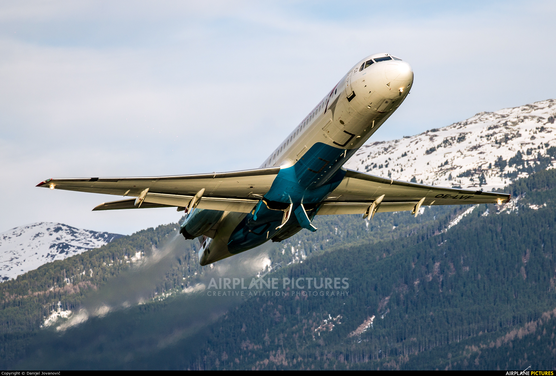 Austrian Airlines/Arrows/Tyrolean OE-LVF aircraft at Innsbruck
