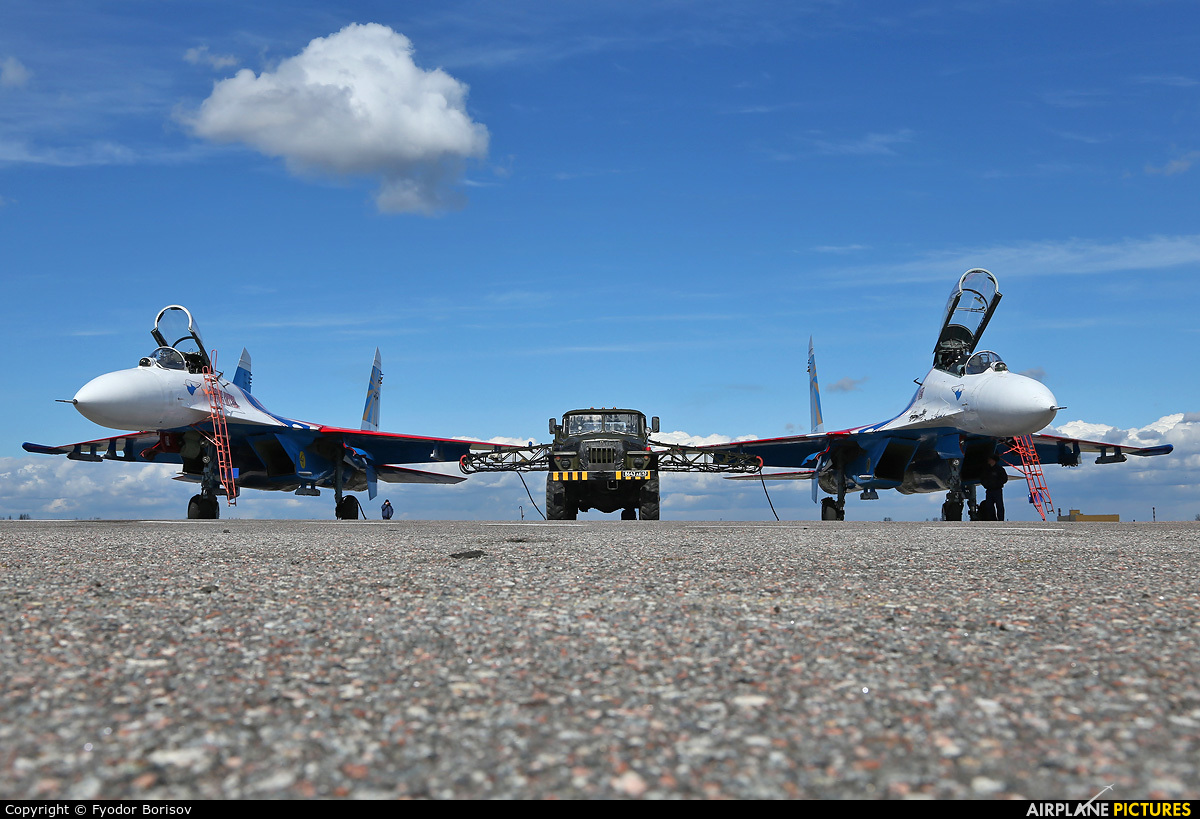 "Russia - Air Force ""Russian Knights"" 20 aircraft at Pushkin"