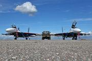 """20 - Russia - Air Force """"Russian Knights"""" Sukhoi Su-27 aircraft"""