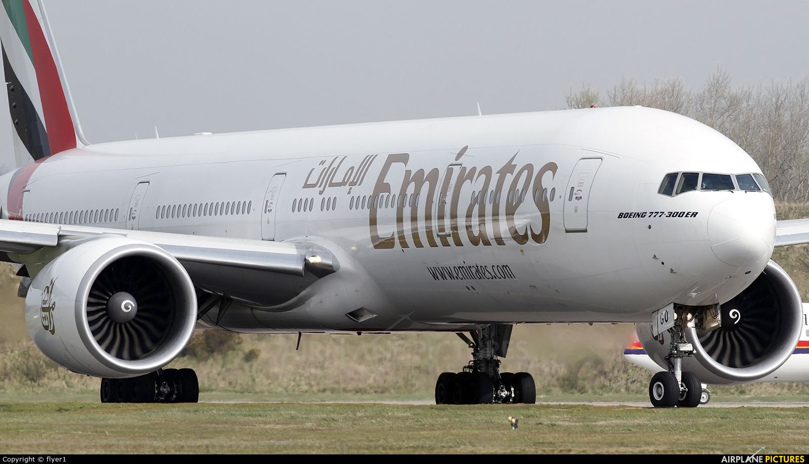 Emirates Airlines A6-EGO aircraft at London - Gatwick