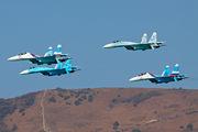 "- - Russia - Air Force ""Falcons of Russia"" Sukhoi Su-27SM3 aircraft"