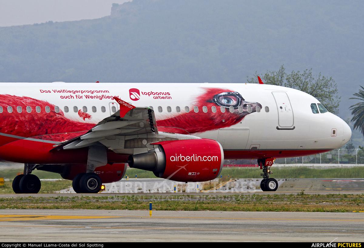 Air Berlin D-ABFO aircraft at Málaga