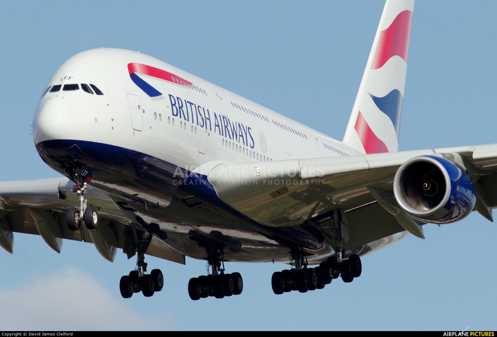 British Airways G-XLEF aircraft at London - Heathrow
