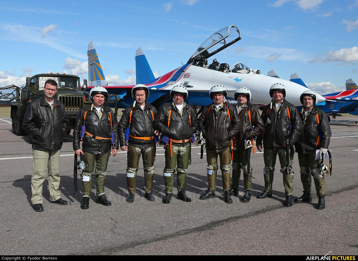 """Russia - Air Force """"Russian Knights"""" 20 aircraft at Pushkin"""
