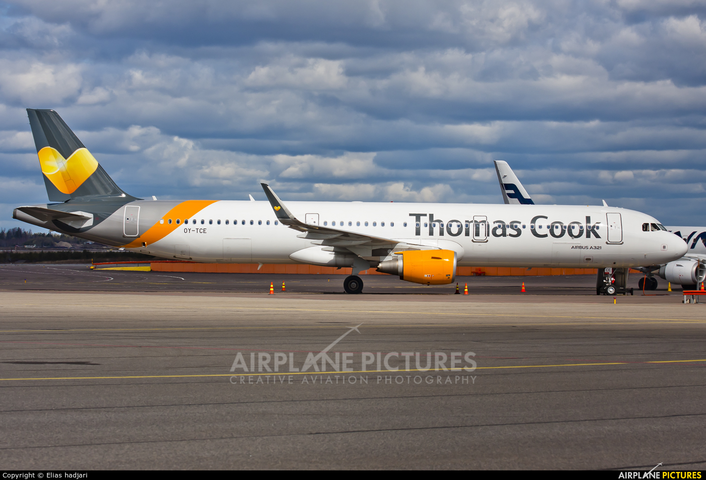 Thomas Cook Scandinavia OY-TCE aircraft at Helsinki - Vantaa