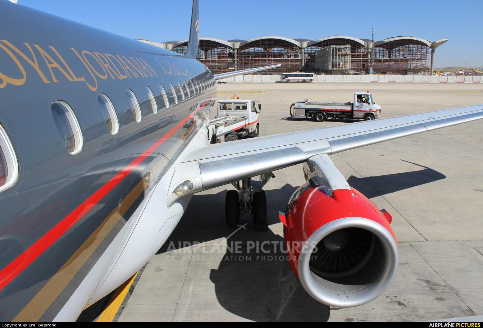 Royal Jordanian JY-EMH aircraft at Amman - Queen Alia Intl