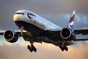 G-VIIN - British Airways Boeing 777-200 aircraft