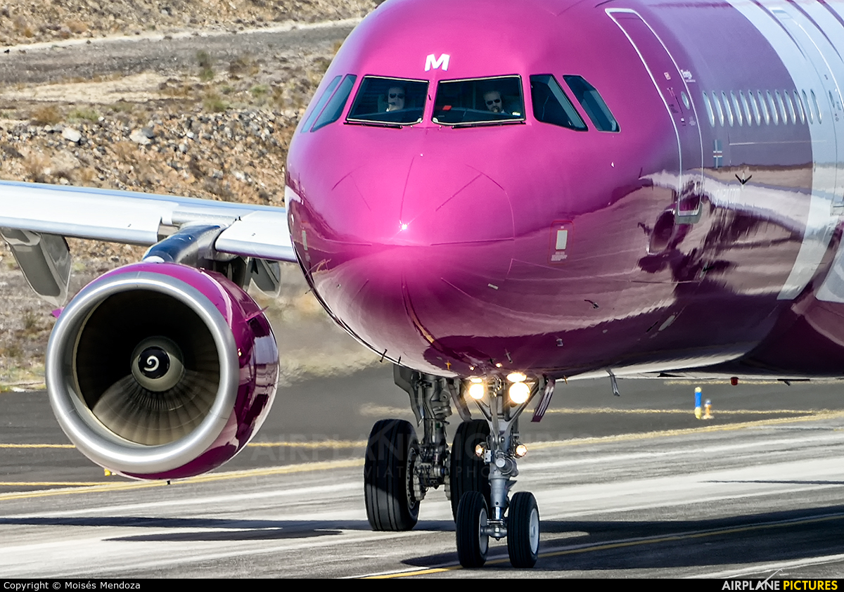 WOW Air TF-MOM aircraft at Tenerife Sur - Reina Sofia