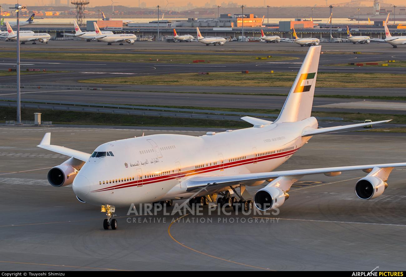 United Arab Emirates - Government A6-HRM aircraft at Tokyo - Haneda Intl