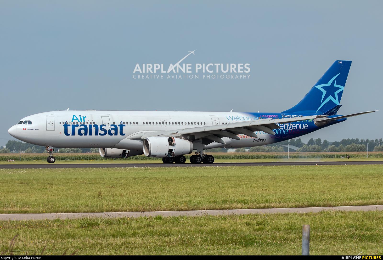 Air Transat C-GTSJ aircraft at Amsterdam - Schiphol
