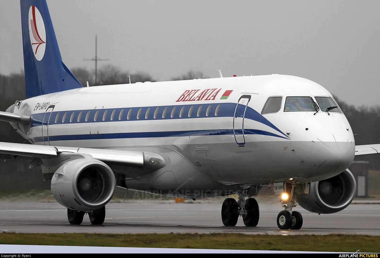 Belavia EW-341PO aircraft at London - Gatwick
