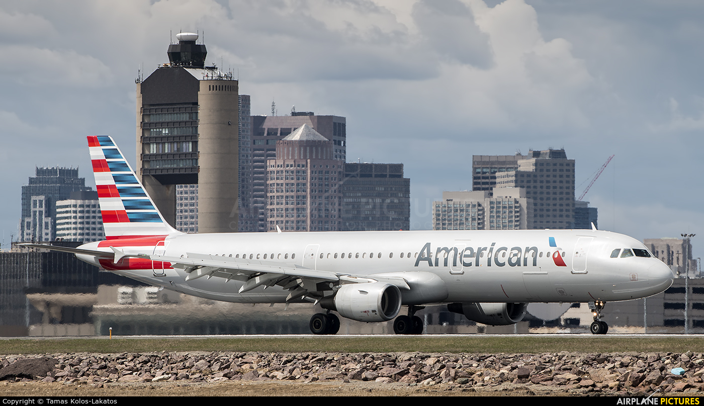 N190uw American Airlines Airbus A321 At Boston General
