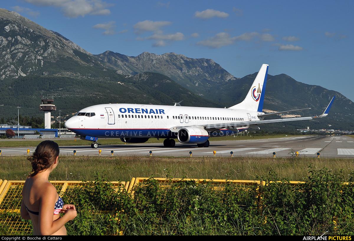 Orenair VQ-BCJ aircraft at Tivat