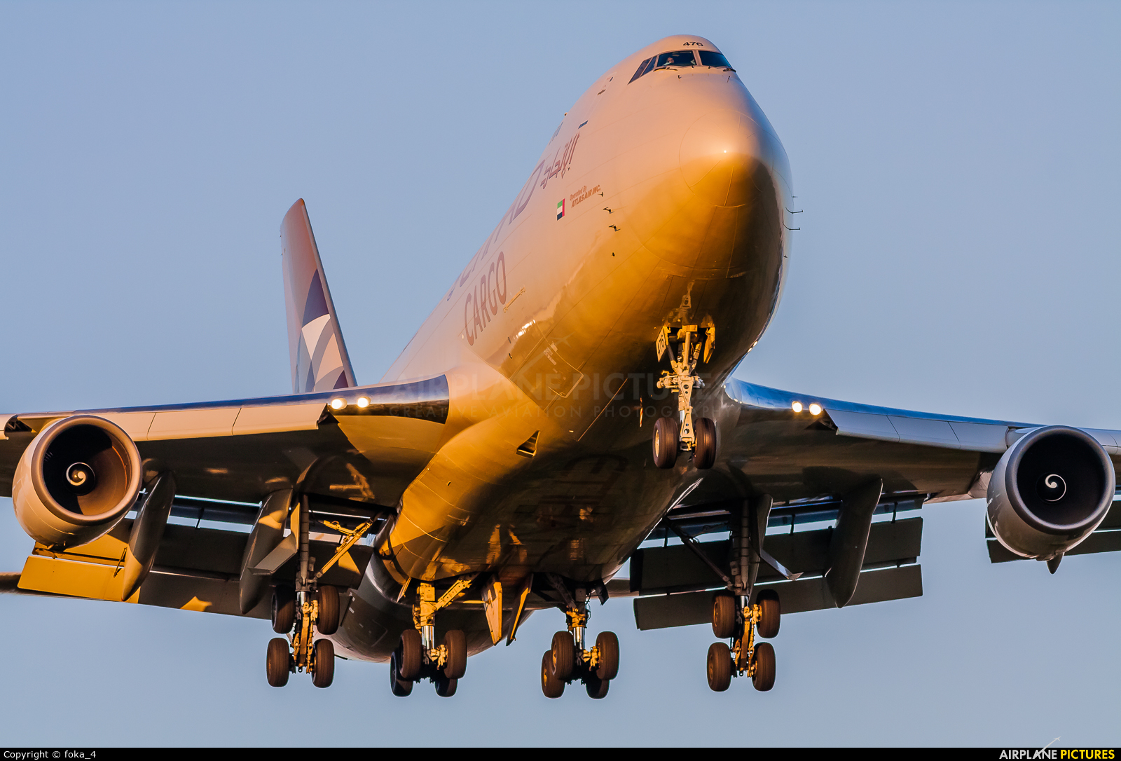 Etihad Cargo N476MC aircraft at Frankfurt