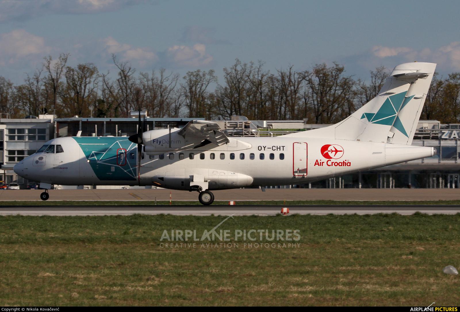 Air Croatia OY-CHT aircraft at Zagreb