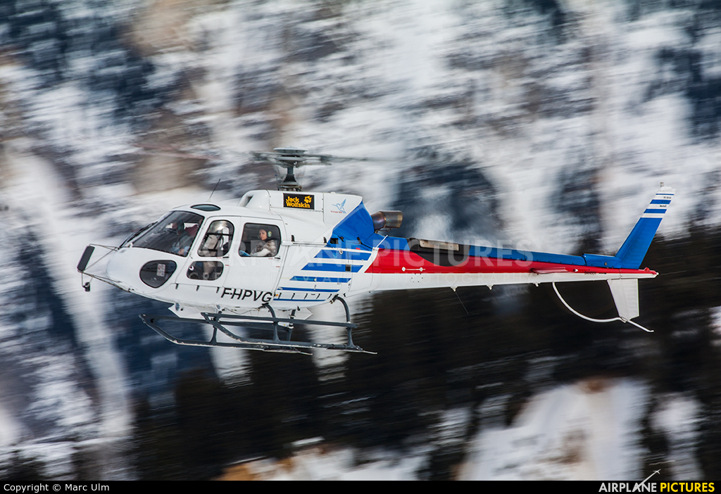 SAF Helicopteres F-HPVG aircraft at Courchevel