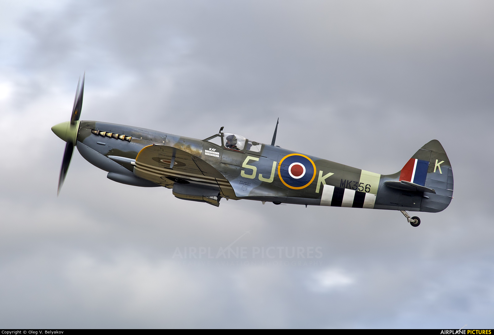 "Royal Air Force ""Battle of Britain Memorial Flight&quot MK356 aircraft at Fairford"
