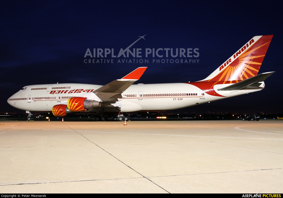 Air India VT-ESP aircraft at Zagreb